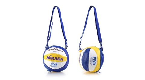 MIKASA 球袋-1入-排球 單顆裝 黃藍白@BV1B@
