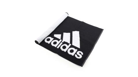 ADIDAS 運動毛巾-慢跑 路跑 游泳 戲水 浴巾 愛迪達 黑白@DH2860@