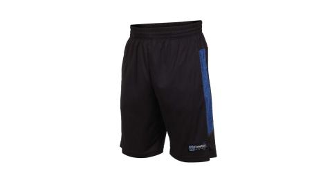 FIRESTAR 男吸濕排汗籃球短褲-球褲 慢跑 黑藍@B9202-97@