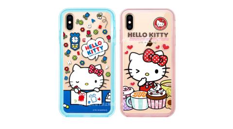 三麗鷗授權 Hello Kitty貓 iPhone Xs Max 6.5吋 二合一雙料手機殼