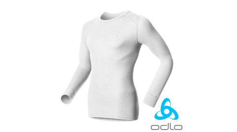 【瑞士 ODLO】WARM EFFECT 男專業機能型銀離子保暖內衣.圓領衛生衣.內刷毛.蓄熱透氣.輕.吸濕/白152022