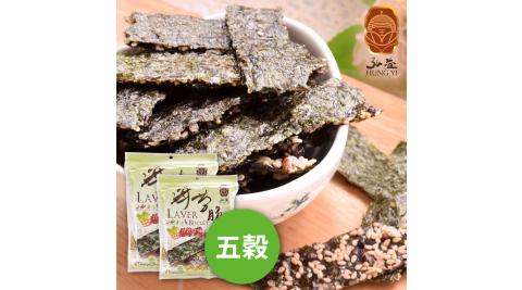 《弘益傳香世家》五穀海苔脆片(40g/包,共三包)