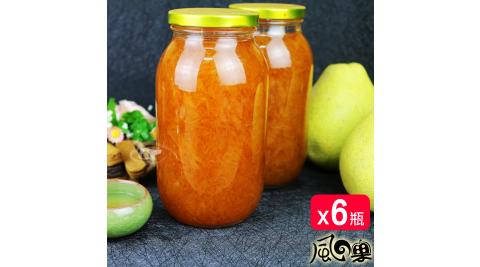 風之果 老欉頂級黃金柚肉手工柚子醬柚子茶x6瓶