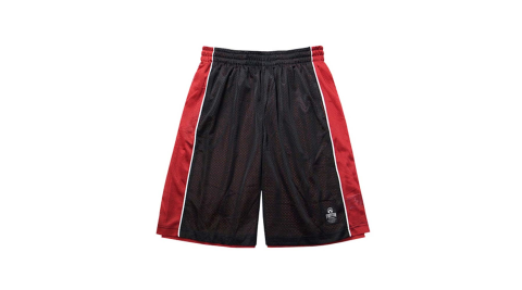 FIRESTAR 男短褲-籃球 雙面穿 黑紅@B3702-10@