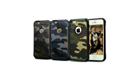 戰地風雲 iPhone 6s/6 Plus 5.5吋  迷彩皮革雙料防撞保護殼
