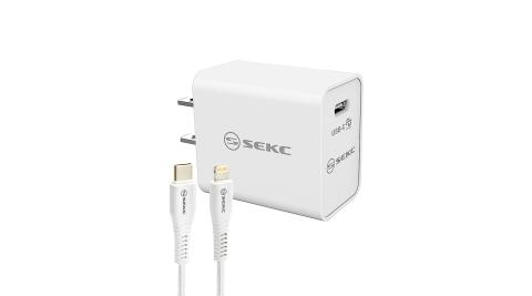【SEKC】日本設計 APPLE MFi原廠認證 18W PD高速充電組