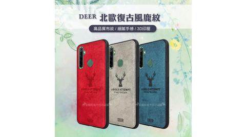 DEER realme 5/C3/6i 共用 北歐復古風 鹿紋手機殼 保護殼 有吊飾孔