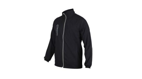 KAPPA 男單層外套-立領外套 防潑水 抗UV 防風 風衣 運動 慢跑 路跑 黑白@3117ZZW-005@