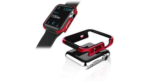 刀鋒Edge系列 Apple Watch 42mm 鋁合金雙料保護殼 保護邊框(野性紅)