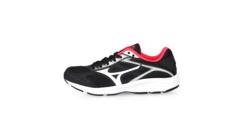 MIZUNO MAXIMIZER 21 JR 男兒童慢跑鞋-美津濃 路跑 黑白紅@K1GC192002@