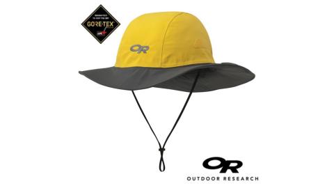 【Outdoor Research 美國】OR-243505-防水透氣保暖招牌大盤帽 灰/黃(0498)