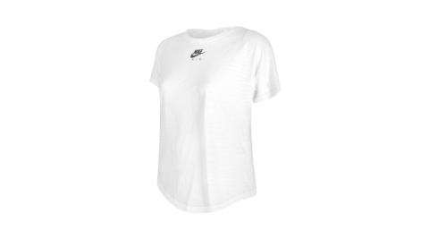 NIKE 女短袖T恤-DRI-FIT 運動 上衣 慢跑 路跑 白黑@CZ9155-100@