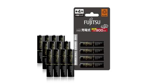 Fujitsu富士通 低自放電4號 900mAh鎳氫充電電池 HR-4UTHC (4號12入)【日本製,加贈電池收納盒】