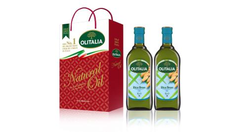 【Olitalia奧利塔】玄米油禮盒1組(1000ml2罐/組;共2罐)