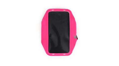 NIKE 輕量手機萬用臂包-慢跑 路跑 手機包 5.7吋螢幕適用 螢光粉@NRN65619OS@