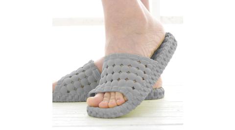 韓版超柔浴室瀝水防滑拖鞋 (男款) 灰色