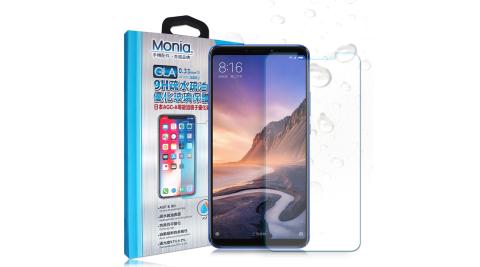 MONIA 小米Max 3 日本頂級疏水疏油9H鋼化玻璃膜 玻璃保護貼(非滿版)