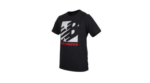 NEWBALANCE 男短袖T恤-PERFORMANCE系列 慢跑 路跑 短T NB 黑灰紅@MT01906BK@