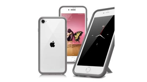 Thunder X 第二代 iPhone SE2 4.7吋 防摔邊框手機殼-灰色