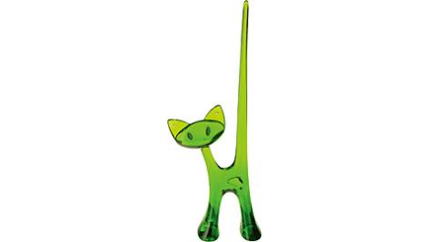 《KOZIOL》優雅貓珠寶架(透綠)