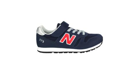 NEWBALANCE 男中童休閒運動鞋-WIDE-373系列 N字鞋 NB 深藍紅@YV373CS2@