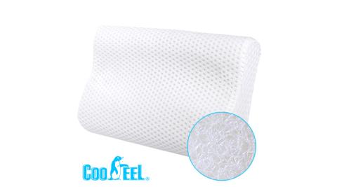 CooFeel 高效透氣可水洗3D纖維立體彈力枕(小)-白色