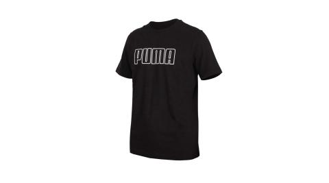 PUMA 男基本系列短袖T恤-純棉 上衣 運動 慢跑 路跑 黑白@58716001@