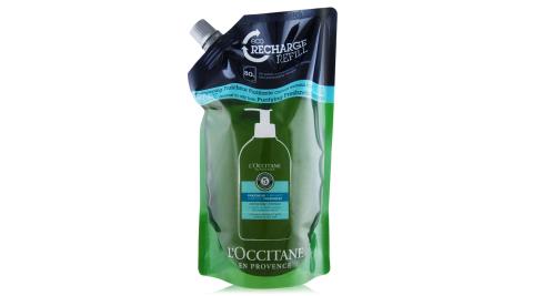 L'OCCITANE 歐舒丹 草本淨涼洗髮乳補充包(500ml)-新版-百貨公司貨