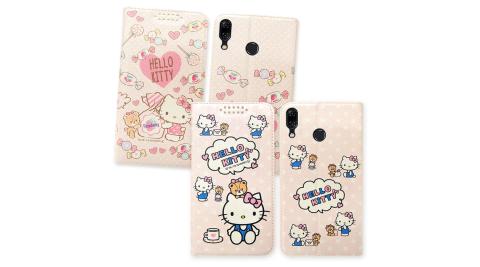 三麗鷗授權 Hello Kitty貓 華碩ASUS Zenfone 5 (2018) ZE620KL 粉嫩系列彩繪磁力皮套 有吊飾孔