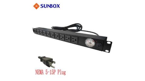 SUNBOX 10孔機架電源排插SPMA-2012-10R