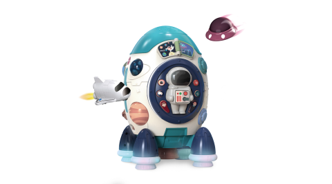 CuteStone 兒童感統6合1玩具-火箭造型