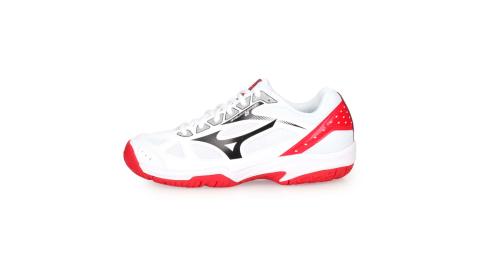 MIZUNO CYCLONE SPEED 2 男女排球鞋-美津濃 白黑紅@V1GA198008@