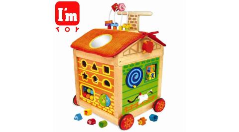 【I'm toy 泰國木製】 移動的學習屋