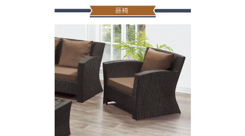 IHouse-A單人藤椅(含布墊)