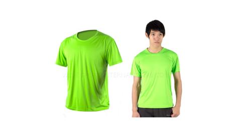 INSTAR 男女涼感短T恤-0秒吸排抗UV輕量吸濕排汗 綠@3103906@