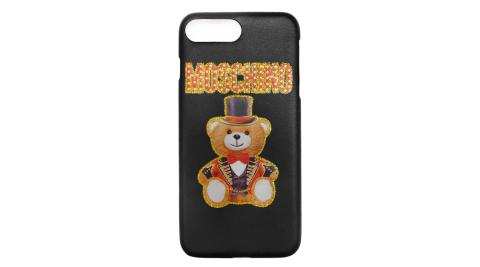 MOSCHINO 新款皇家熊熊 I Phone 6.7.8 Plus手機殼 (黑色)