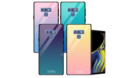 VXTRA 三星 Samsung Galaxy Note9 玻璃鏡面防滑全包保護殼 手機殼 有吊飾孔 漸層系列