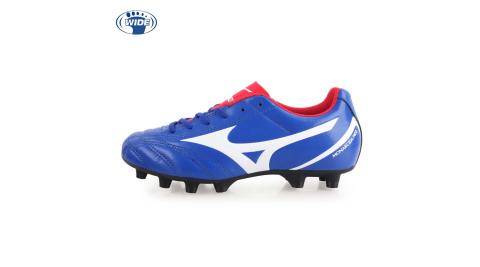 MIZUNO MONARCIDA NEO SELECT JR男童足球鞋-WIDE 藍白紅@P1GB192501@