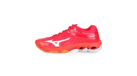 MIZUNO WAVE LIGHTNING Z4 男女排球鞋-美津濃 紅白@V1GA180002@