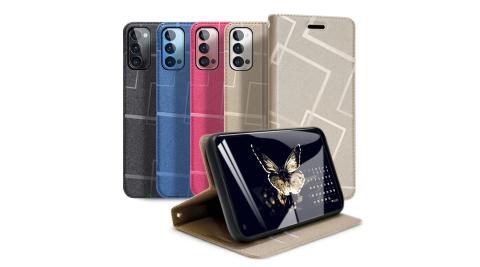 GENTEN for OPPO Reno4 Pro 極簡立方磁力手機皮套