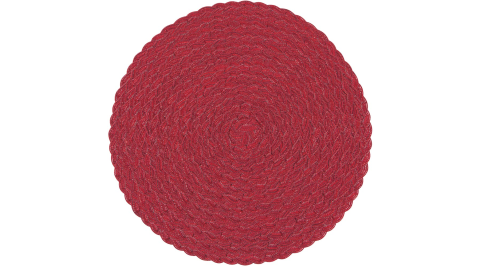《NOW》質感螺紋圓餐墊(玫瑰紅)