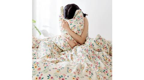 【KOKOMO'S扣扣馬】MIT天然精梳棉200織紗雙人床包被套四件組-魔法俏佳人