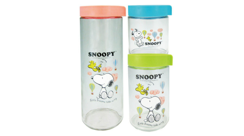 【史努比】超值3件儲物罐(大+中+小)SN-02017-3S