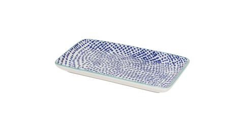 《NOW》長方淺餐盤(墨點藍20.5cm)