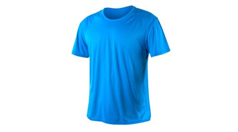 INSTAR 男女涼感短T恤-0秒吸排抗UV輕量吸濕排汗 寶藍@3103907@