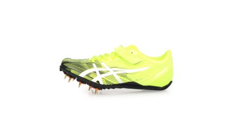 ASICS HEATSPRINT FR 8 男田徑釘鞋-短距離  短跑 亞瑟士 螢光黃黑白@TTP528-0701@