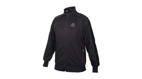 KAPPA 男女針織運動外套-運動 上衣 路跑 慢跑 3M 吸濕排汗 黑深灰@3115H8W-A0D@