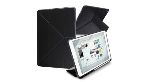 Xmart for 2019 iPad Pro 10.2吋 典雅時尚帶筆槽Y折牛皮皮套