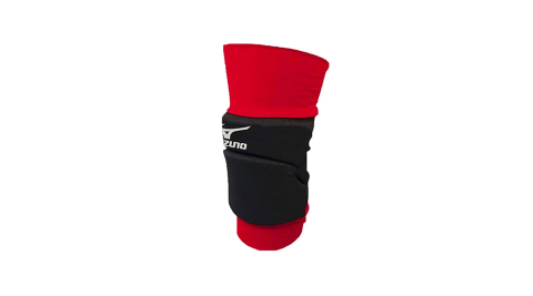 MIZUNO 膝套-一只入 配件 防撞 排球 美津濃 黑紅銀@V2JY400196@