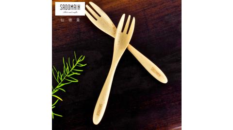 【仙德曼 SADOMAIN】山毛櫸原木餐具下午茶叉組(4入組))